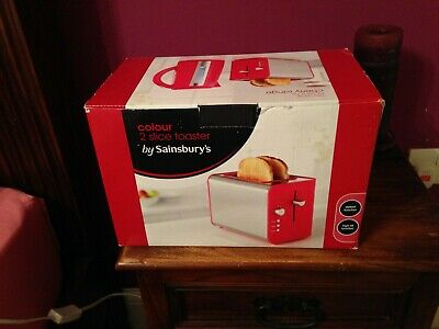 Sainsburys Red Cherry 2 slice toaster