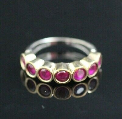 Turkish Handmade Jewelry Sterling Silver 925 Ruby Men's Ring 8,5 MD