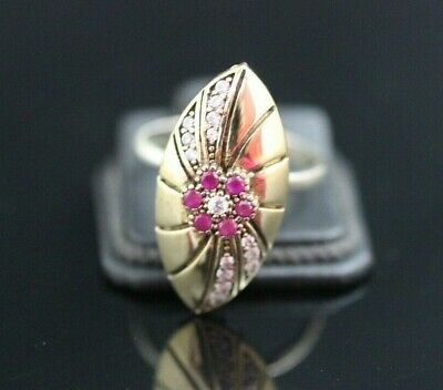 Turkish Handmade Jewelry Sterling Silver 925 Ruby Men's Ring 8 MD