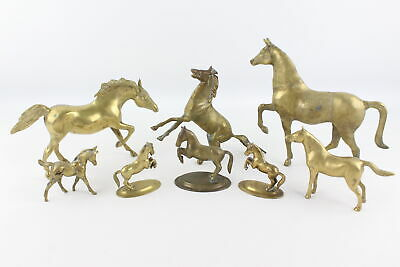 8 x Vintage Decorative BRASS Horse Ornaments Various Poses & Styles (6924g)