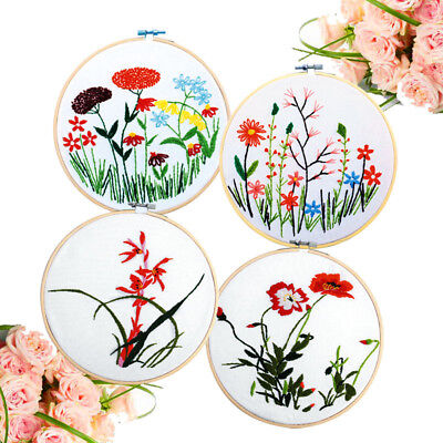 Wooden Cross Stitch Machine Bamboo Hoop Ring Embroidery Sewing PM