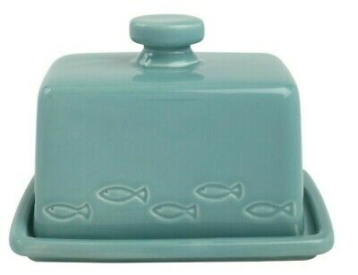 T&G Woodware Ocean Butter Dish Ceramic Blue FREE DELIVERY 18605P