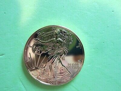 2006 Colored Silver Eagle entire coin Gold Gilded
