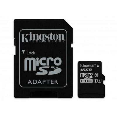 Memoria Micro SD Kingston 16GB clase 10 SDCS/16GB c/adaptador SD