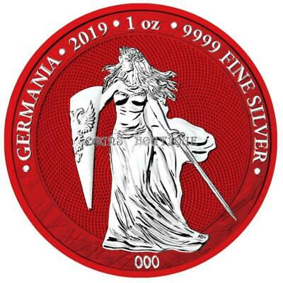 "Germania 2019 5 Mark ""Germania Space Red 1 Oz 9999 Silver 500pcs only"