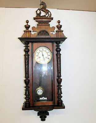 Antique-Wall-Clock- Regulator 19th century clock *KIEZLE*