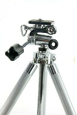 Vintage TELESAR japanese tripod, with case,chromed,8 pull sections,crank column