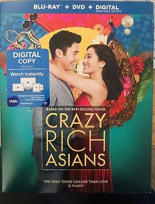 Crazy Rich Asians Blu Ray, Dvd And Digital Copy 2018 With Slipcover