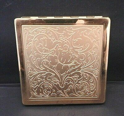 Easterling of Boston Vintage Bronze Makeup Compact with Mirror Never Used