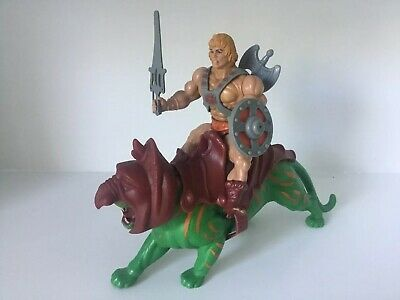 Vintage MOTU He-Man Lot He Man Battle Cat Complete Accessories Weapons