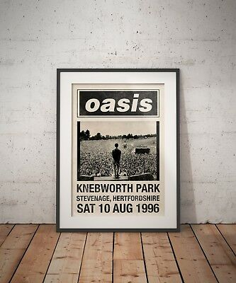 OASIS 1996 KNEBWORTH FESTIVAL Story Morning Glory Tour A3 Digital Art Print