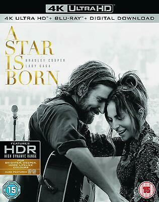 A Star is Born 4K Ultra HD Blu-ray Bradley Cooper Lady Gaga NEW 5051892219228