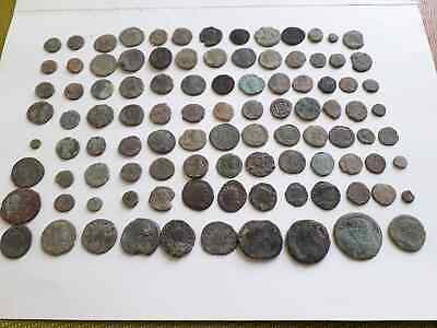 Lot Of 100 Ancient Roman Coins For Cleaned