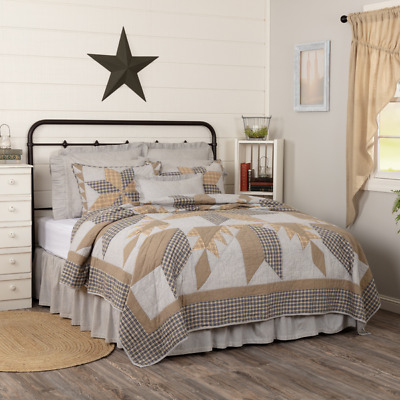 Dakota Star Farmhouse Blue Quilt/Accessories.choose Size/Accessories. Vhc Brands