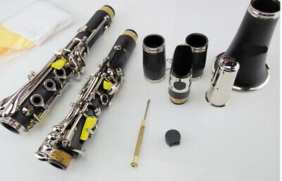 D09 17 Keys Bb Clarinet Black Musical Instrument With Case Accessories O