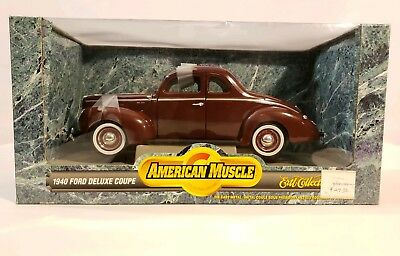 1940 Ford Deluxe Coupe American Muscle Ertl 1:18 Scale Die Cast