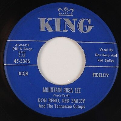 DON RENO, RED SMILEY: Mountain Rosa Lee (Hillbilly Queen) KING Bluegrass 45 MP3