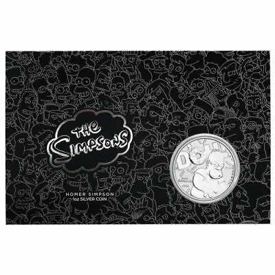 2019 Homer Simpson 1oz Silver Coin VERY LIMITED 1,000 coins only in card package