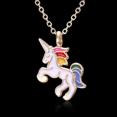 Women Men Unisex Colorful Horse Animal Pendant Necklace Jewellery Party Gift New