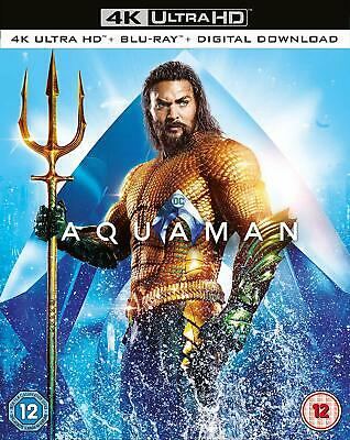 Aquaman 4K Ultra HD Blu-ray Jason Momoa Amber Heard Nicole Kidman NEW PRE-ORDER