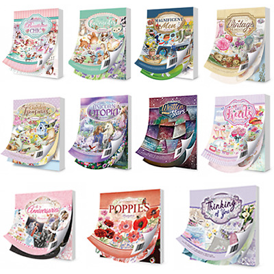 Hunkydory Little Books - x1 Pad 144/150 Sheets Various Designs - Cardmaking