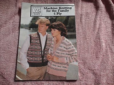 Knitting Machine Magazine/ Book: Machine Knitting For The Family