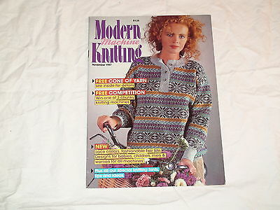 Knitting Machine Magazine Modern Machine Knitting November 1987