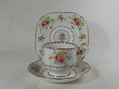 Royal Albert Petit Point Cup & Saucer with Bread and Butter Plate Trio