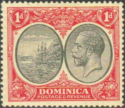 1923 Dominica #67 Mint Hinged Single King George V Badge of the Colony