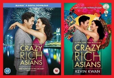 Crazy Rich Asians Double Pack Includes Blu-ray and Paperback Brand NEW