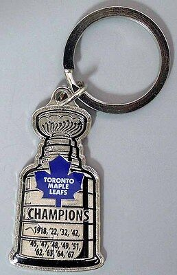Toronto Maple Leafs - Nhl Licensed Stanley Cup Keychain - All Years - New!