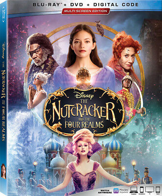 THE NUTCRACKER AND THE FOUR REALMS New and Sealed Blu-ray and DVD and Digital