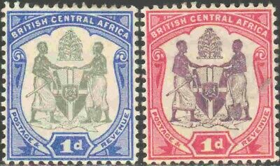 1897-1901 British Central Africa #43-4 Mint Hinged Pair of Definitives
