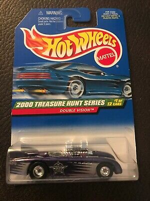 2000 Hot Wheels Treasure Hunt Series Double Vision Rubber Tires