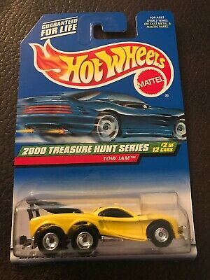 Hot Wheels TOW JAM Yellow 2000 Treasure Hunt Series Rubber Tires