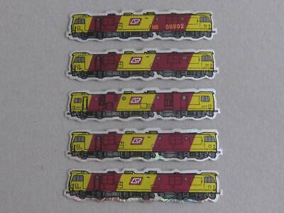 Queensland Rail Set Of 5 Small Stickers 3100/3200 Class Electric Locos - Unused