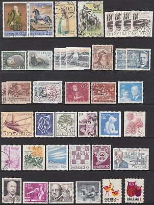 Sweden  Collection Of (41) Stamps Used