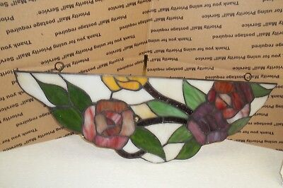 """Tiffany Style Stained Glass floral  Window Hanging Art Suncatchers 18"""""""