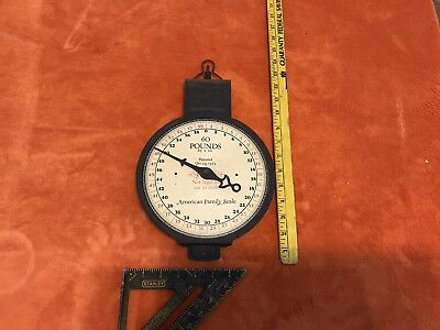 Vintage American Family Hanging Scale, Produce Scale, 60 Lbs., 1912, NOT WORKING