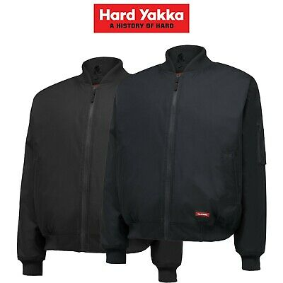 Mens Hard Yakka Bomber Jacket Core Winter Work Hooded Quilted Waterproof Y06680