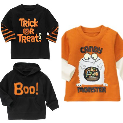 Gymboree Halloween Shop 6-12-18 mo Shirts Boys Treat Candy Monster Black 2011