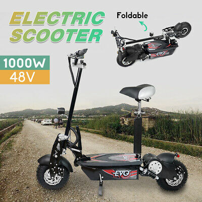 Electric Scooter 48V 1000W Road Terrain Tyre Model Turbo w/ LED for Adults/Child