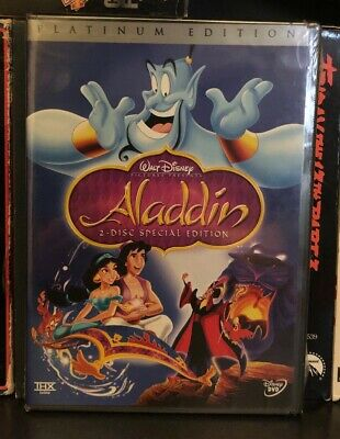 Disney's Aladdin Platinum Edition 2-Disc DVD 1992/2004 (New/Sealed)