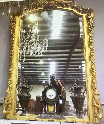 Impressive Antique French Gilt Mirror