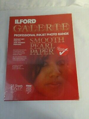 ILFORD GALERIE Professional Inkjet Photo Smooth Pearl Paper Sealed 25 Sheets JA
