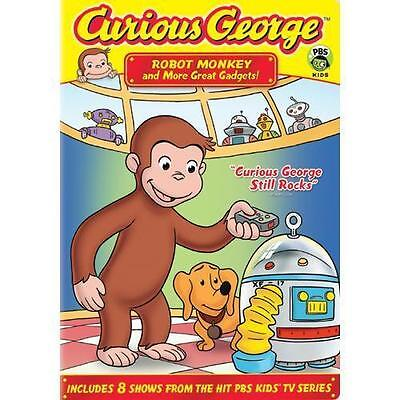 Curious George: Robot Monkey and More Great Gadgets! [DVD] NEW Sealed