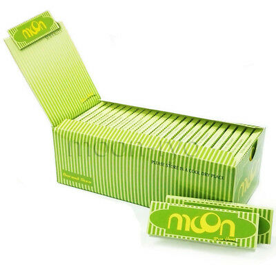 1 box 50 booklets Moon Hemp Cigarette Rolling Papers 70*36mm 2500 leaves Tobacco
