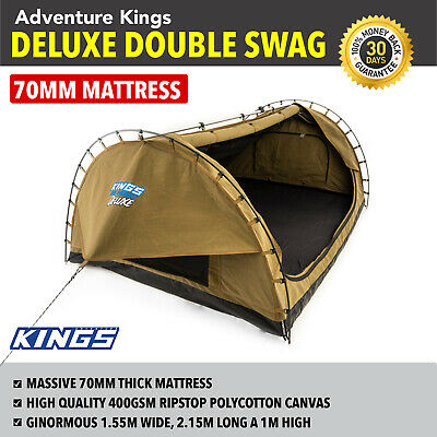 Big Daddy Deluxe Double Swag Kings Camping 4WD Outdoor Hiking Tent Canvas