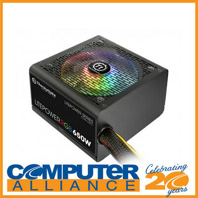 650 Watt Thermaltake Litepower RGB Power Supply PN PS-LTP-0650NHSANA-1