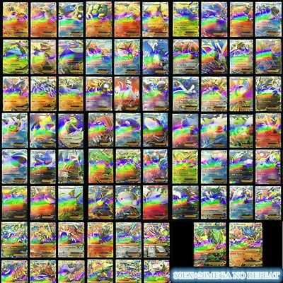 Hot ! New Pokemon TCG : 100 FLASH CARD LOT RARE 20 MEGA+80 EX CARDS NO REPEAT #